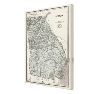 Georgia Atlas Map Canvas Print
