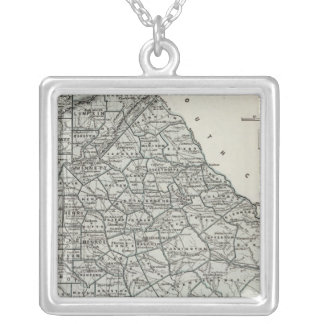 Georgia Atlas Map Silver Plated Necklace