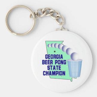 Georgia Beer PONG CHAMPION Key Chains