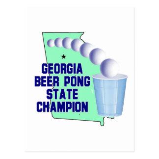 Georgia Beer PONG CHAMPION Postcard