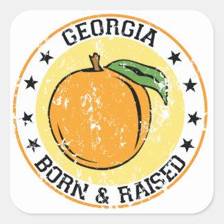 Georgia Born and Raised Square Stickers