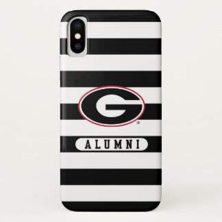 Georgia Bulldogs Alumni | Stripes iPhone X Case