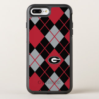 Georgia Bulldogs Logo | Argyle Pattern OtterBox Symmetry iPhone 8 Plus/7 Plus Case