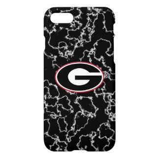 Georgia Bulldogs Logo | Black Marble iPhone 8/7 Case