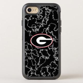 Georgia Bulldogs Logo | Black Marble OtterBox Symmetry iPhone 8/7 Case