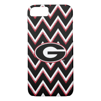 Georgia Bulldogs Logo | Chevron Pattern iPhone 8/7 Case