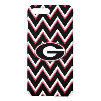 Georgia Bulldogs Logo | Chevron Pattern iPhone 8 Plus/7 Plus Case