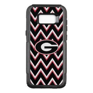 Georgia Bulldogs Logo | Chevron Pattern OtterBox Commuter Samsung Galaxy S8+ Case