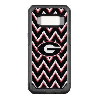 Georgia Bulldogs Logo | Chevron Pattern OtterBox Commuter Samsung Galaxy S8 Case