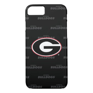 Georgia Bulldogs Logo | Watermark Pattern iPhone 8/7 Case