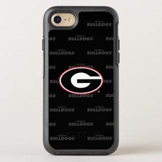 Georgia Bulldogs Logo | Watermark Pattern OtterBox Symmetry iPhone 8/7 Case