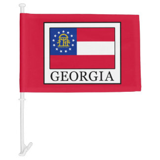 Georgia Car Flag