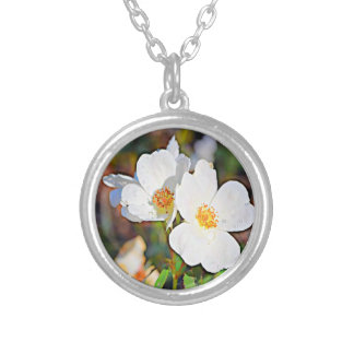 Georgia Cherokee Rose Silver Plated Necklace