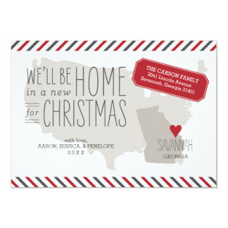 Georgia Christmas Moving Announcement Holiday Card