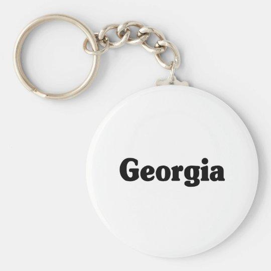 Georgia Classic Basic Round Button Key Ring