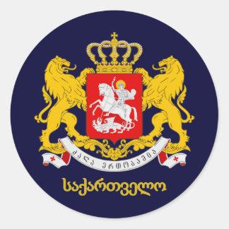 Georgia COA Round Sticker