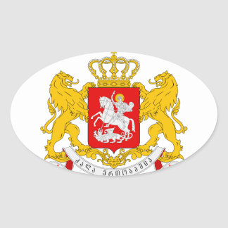 Georgia Coat of arms GE Oval Sticker