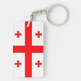 georgia country flag long symbol Double-Sided rectangular acrylic key ring