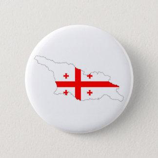 georgia country flag map shape symbol 6 cm round badge