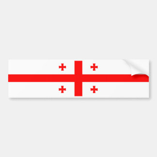 georgia country flag symbol bumper sticker