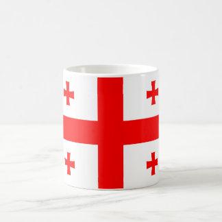 georgia country flag symbol coffee mug