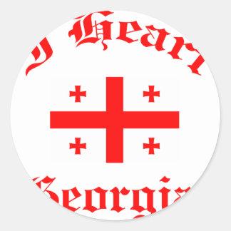 Georgia design round sticker