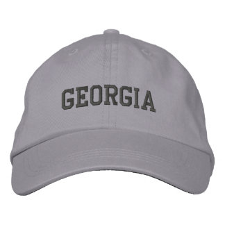 Georgia Embroidered Adjustable Cap Cool Grey