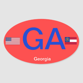 Georgia* Euro-style Bumper StickerSticker Stickers