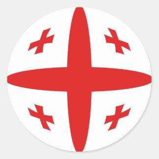 Georgia Fisheye Flag Sticker