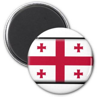 Georgia Flag 6 Cm Round Magnet