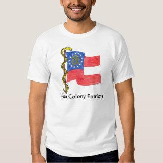 Georgia Flag and dont tread on me, 13th Colony ... Tshirts