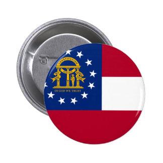 Georgia Flag 6 Cm Round Badge