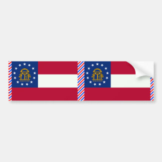 Georgia Flag Bumper Sticker