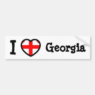 Georgia Flag Car Bumper Sticker
