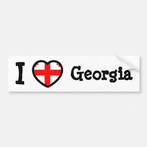 Georgia Flag Bumper Sticker