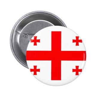 Georgia Flag Pinback Button