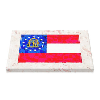 GEORGIA FLAG CANVAS PRINT