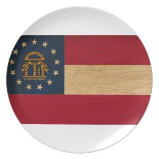Georgia Flag Dinner Plate