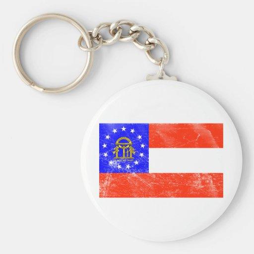 Georgia Flag (Distressed) Key Chains