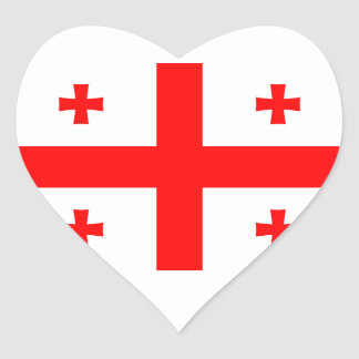 Georgia Flag GE Heart Sticker