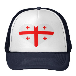 Georgia flag heart mesh hats