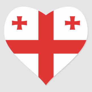 Georgia Flag Heart Sticker