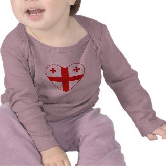 Georgia Flag Heart T-Shirt