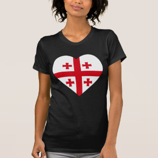 Georgia Flag Heart Shirts