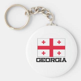Georgia Flag Key Chain