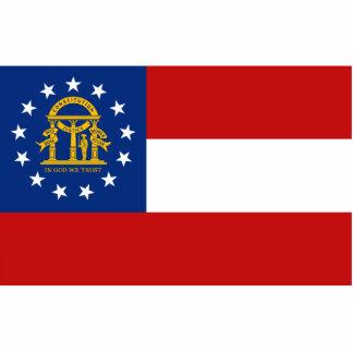 Georgia Flag Keychain Cut Out