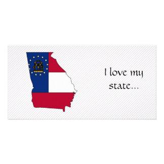Georgia Flag Map Card