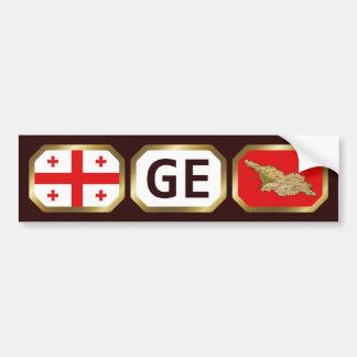 Georgia Flag Map Code Bumper Sticker