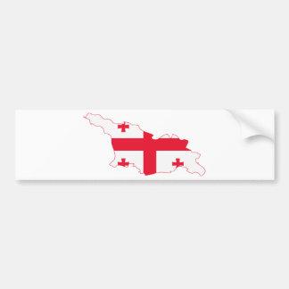 Georgia Flag Map GE Bumper Sticker