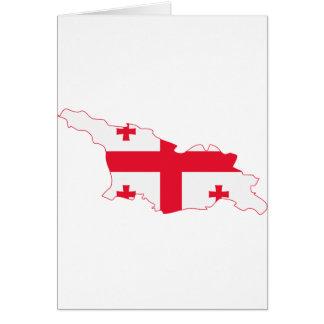 Georgia Flag Map GE Greeting Card